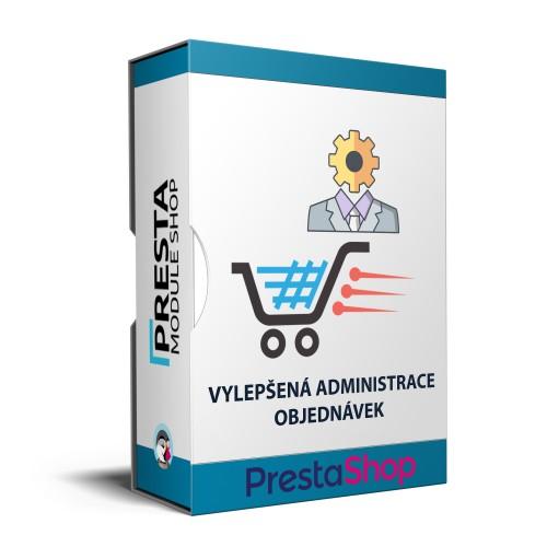 Prestashop modul - Vylepšená administrace objednávek, online podání dopravců, rychlé náhledy, hromadné tisky